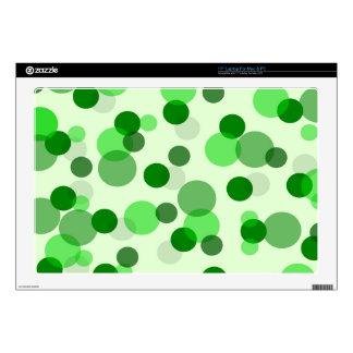 Green Spots Pattern Laptop Skins