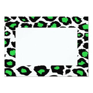 "Green spotted Leopard Invitation 5"" X 7"" Invitation Card"
