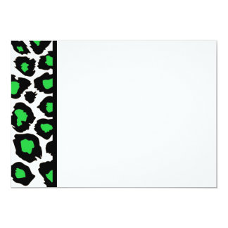 Green Spotted Leopard Panel Invitation