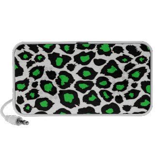 Green Spotted Leopard Print Speaker