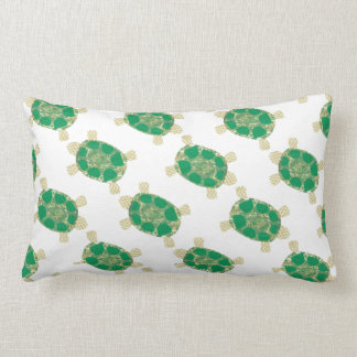 Green Spotted Turtle Pillow