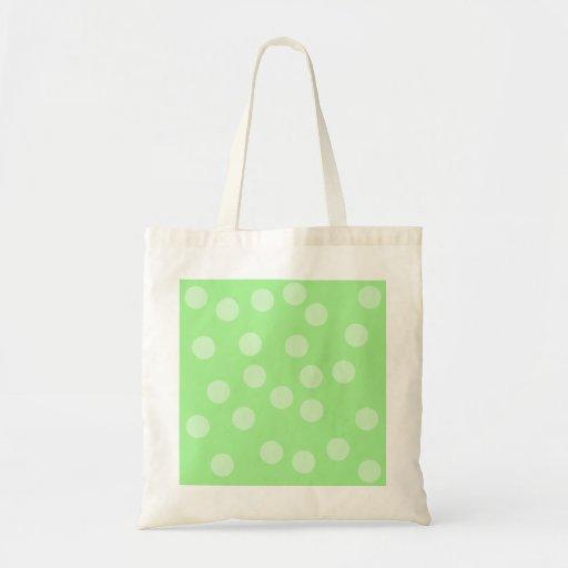 Green Spotty Pattern. Canvas Bags