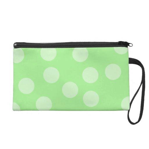 Green Spotty Pattern. Wristlets