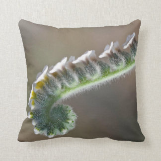 green spring curly flower pillow