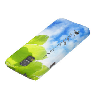 Green spring leaves and blue sky case for galaxy s5