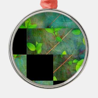 Green Spring leaves Metal Ornament