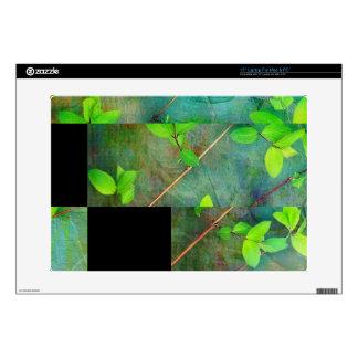"""Green Spring leaves 15"""" Laptop Skin"""