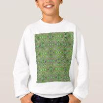 Green Spring Pattern Sweatshirt