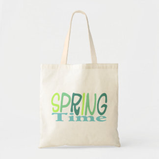 Green spring time tote bag