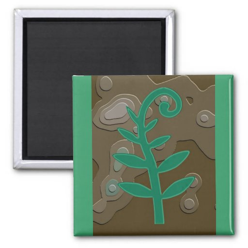 Green Sprout Fridge Magnets