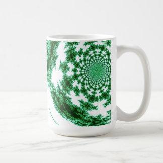 Green Spun Thread Coffee Mug