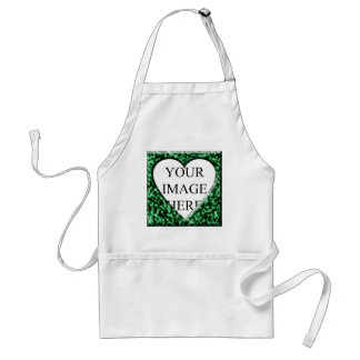 Green Square Frame with Heart Opening Aprons