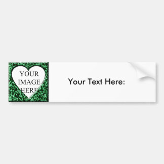 Green Square Frame with Heart Opening Car Bumper Sticker