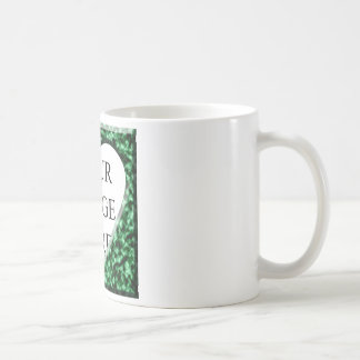 Green Square Frame with Heart Opening Coffee Mug