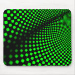 Green square on black mouse mats