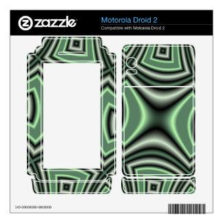 Green Square Pattern Skin For Motorola Droid 2