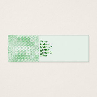 Green Squared Contact Card