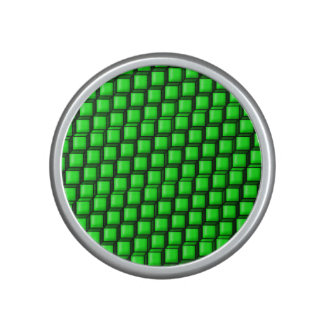 Green Squares Bumpster Speaker