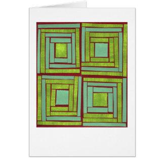 Green squares design card