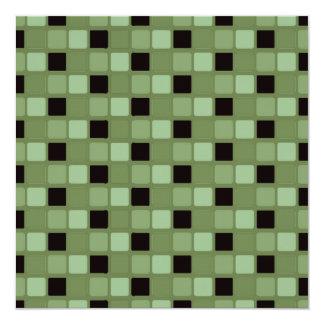 Green Squares Invitation