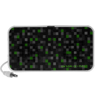 Green Squares Notebook Speakers