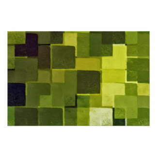 green squares poster