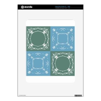 green squares skin for iPad