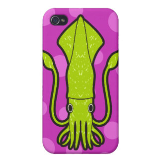 Green Squid Cover For iPhone 4