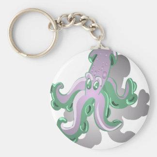Green Squid Keychain