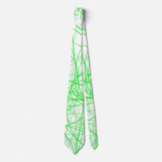 Green Squiggle Neck Tie