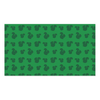 Green squirrel pattern Double-Sided standard business cards (Pack of 100)