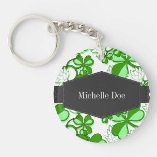 Green St. Patrick's Day Green Shamrock Ireland Acrylic Keychains
