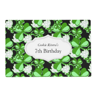 Green St. Patrick's Day Green Shamrock Ireland Placemat