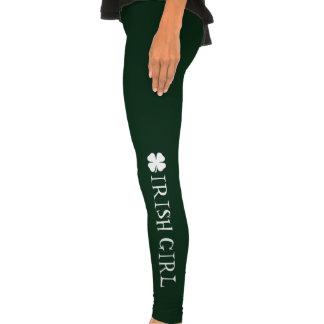 Green St Patricks Day leggings for Irish girls