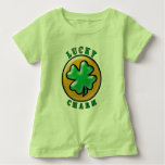 Green St. Patrick's Day Lucky Charm Clover T Shirt