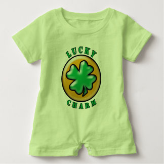 Green St. Patrick's Day Lucky Charm Clover Tee Shirt