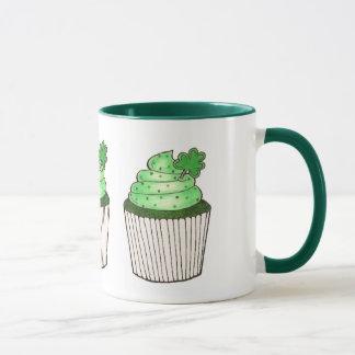 Green St. Saint Patrick's Day Cupcake Shamrock Mug