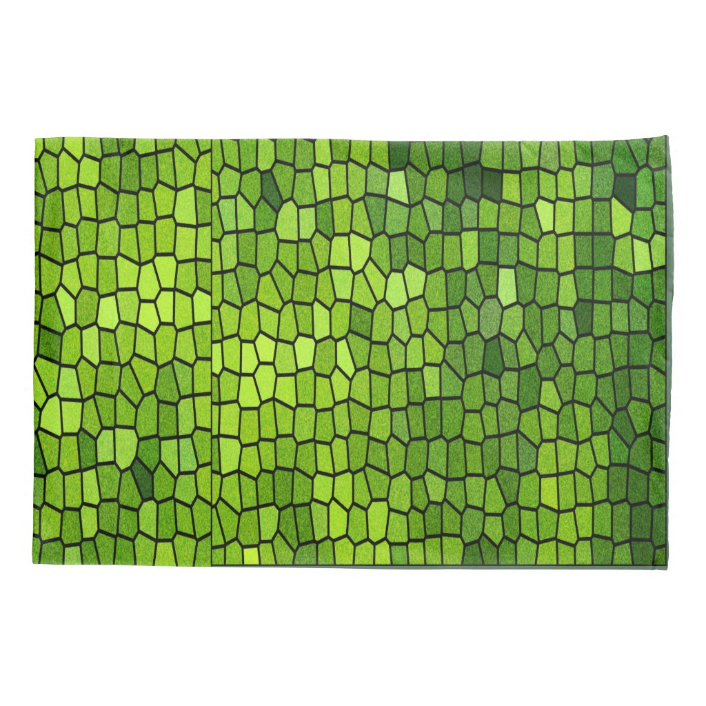 Green Stain Glass Look Pillow Case