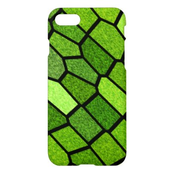 Green Stain Glass Mosaic iPhone 7 Case