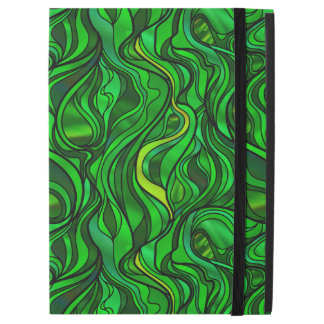 Green Stained Glass Abstract iPad Pro Case