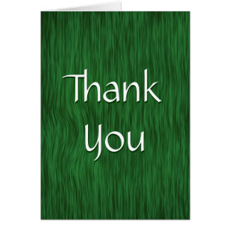 Green Stained Rough Wood Thank You Card