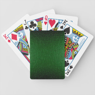 Green Stainless Shiny Metallic Bicycle Playing Cards