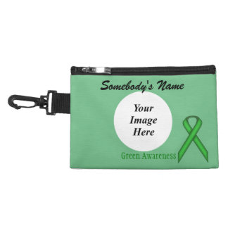 Green Standard Ribbon Accessories Bag