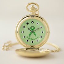 Green Standard Ribbon (Bf) by K Yoncich Pocket Watch