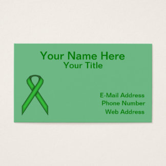 Green Standard Ribbon Business Card