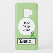 Green Standard Ribbon by Kenneth Yoncich Case-Mate Samsung Galaxy S9 Case