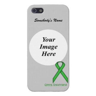 Green Standard Ribbon by Kenneth Yoncich Cover For iPhone SE/5/5s