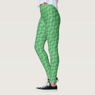 Green Standard Ribbon by Kenneth Yoncich Leggings