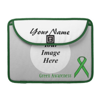 Green Standard Ribbon by Kenneth Yoncich MacBook Pro Sleeve