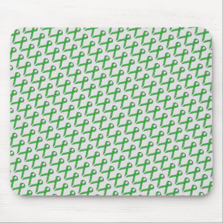 Green Standard Ribbon by Kenneth Yoncich Mouse Pad